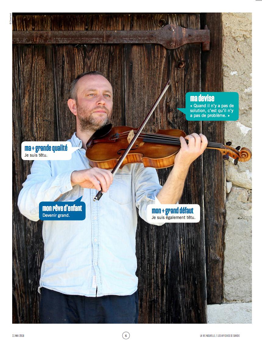 Julian Boutin, musicien à l'ouvrage