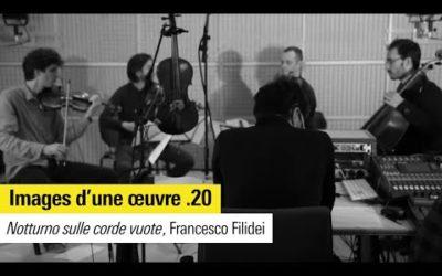 """Images d'une œuvre n°20 : """"Notturno sulle corde vuote"""" de Francesco Filidei"""